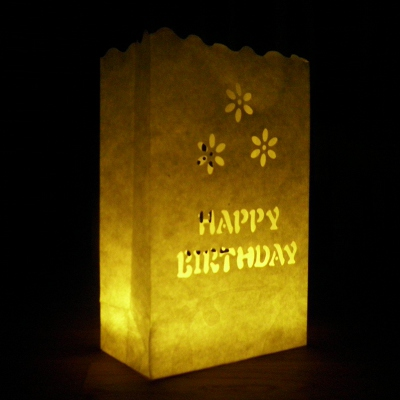 happy birthday luminary candle bags