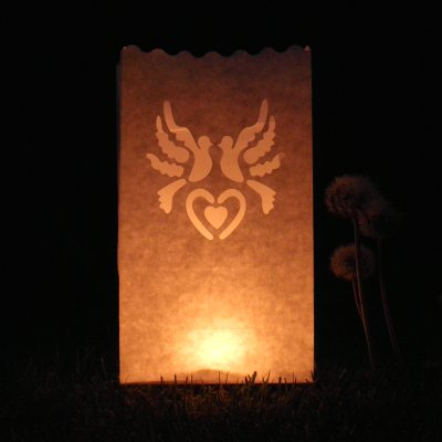 luminary dove candle bags