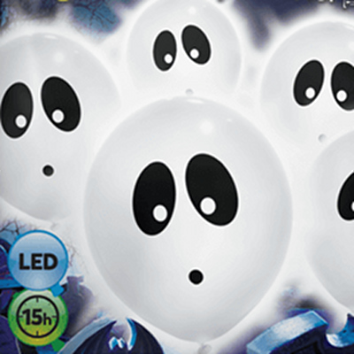 ghost LED balloons