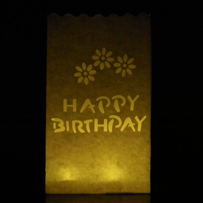colour happy birthday candle bags