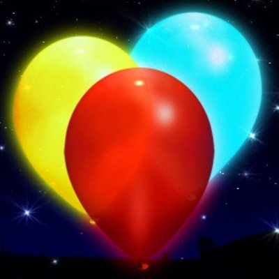 multi colour LED balloons