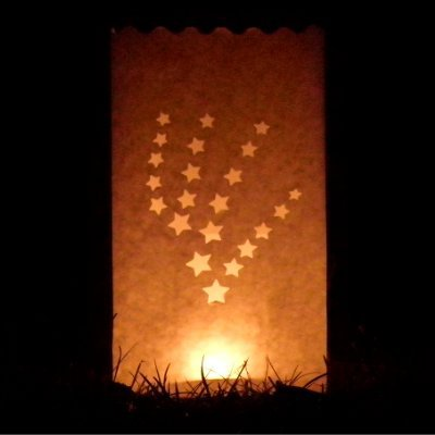 shooting star luminary candle bags