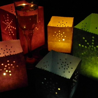 small colour luminary candle bags