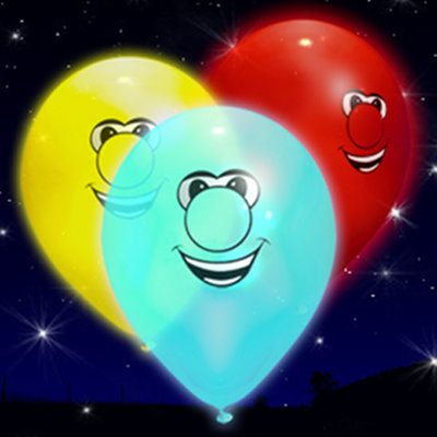 smiling face LED balloons
