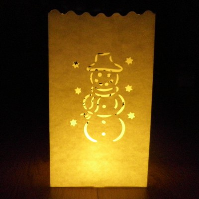 Snowman candle bags