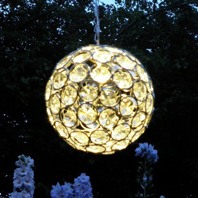 solar crystal ball hanging lanterns