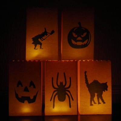 spooky Halloween candle bags