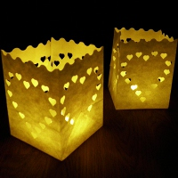 13cm big heart candle bags
