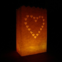 20cm big heart candle bags