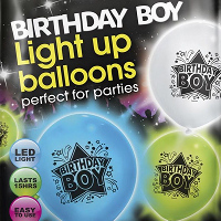 birthday boy LED balloons