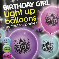 birthday girl LED balloons