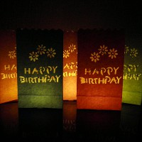 colour birthday candle bags