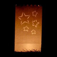 cut out star candle bags