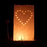 26cm heart candle bags