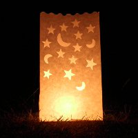 moon and star candle bags